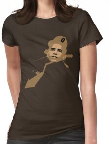 URBAN OBAMA BROWN Womens Fitted T-Shirt