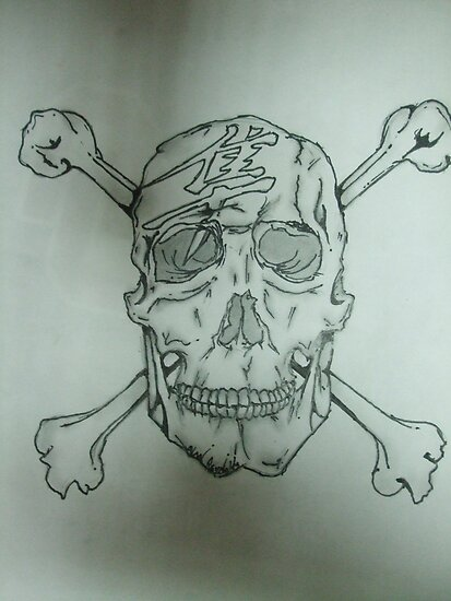 My creation of the Hyibusa symbol with a skull. by alkapone26