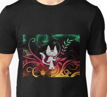 Daisy Flower Power Hippie Kitty Unisex T-Shirt