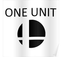 Smash Bros One Unit (Black) Poster