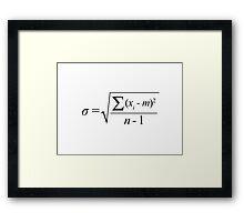 Standard Deviation formula Framed Print