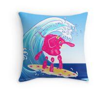 Wave Rider Girl Throw Pillow