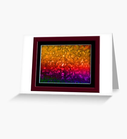 Abstract from Photo with Adobe Photoshop Greeting Card