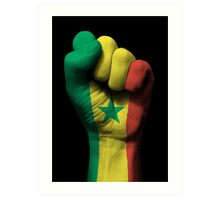 Flag of Senegal on a Raised Clenched Fist  Art Print