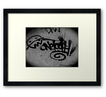 Graffiti Sidewalks Framed Print