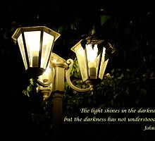the light shines in the darkness by Jan Stead JEMproductions