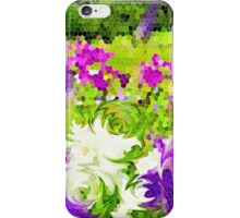 Abstract Stained Glass Iris Garden Mosaic iPhone Case/Skin