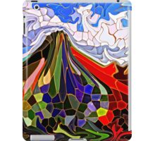 Psychedelic Mountains Abstract Stained Glass Mosaic iPad Case/Skin
