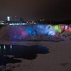American Falls at night by (Tallow) Dave  Van de Laar