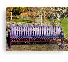Memorial Bench at Alton Baker Park  Metal Print