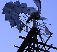 Windmill on Edge! by Lesley  Hill