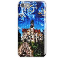 Starry Night Mosaic Church Swirling Stars Stained Glass iPhone Case/Skin