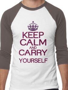 Keep calm and do it yourself Funny Geek Nerd Men's Baseball ¾ T-Shirt