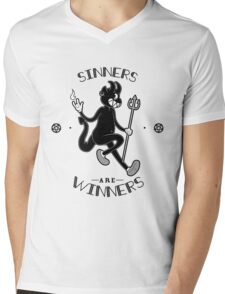 Sinners are WINNERS Mens V-Neck T-Shirt