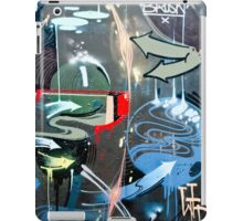 Graffiti Colorful detail on a textured wall iPad Case/Skin