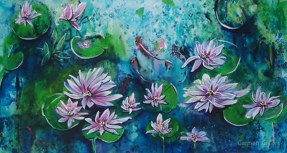Lotus Pond by Carmen  Cilliers