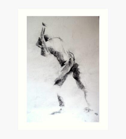 Gestural abstract Art Print