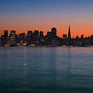 San Francisco Sunset Skyline by MattGranz