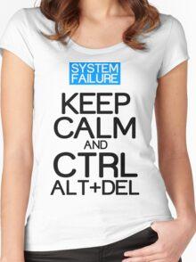 Keep calm ctrl alt del Funny Geek Nerd Women's Fitted Scoop T-Shirt
