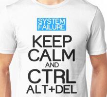 Keep calm ctrl alt del Funny Geek Nerd Unisex T-Shirt
