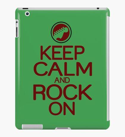 Keep calm rock on Funny Geek Nerd iPad Case/Skin