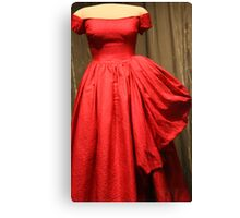 Mamie's Red Gown Canvas Print