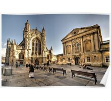 Bath Abbey and  Pump Rooms  Poster