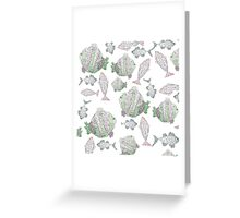 Fish Pattern Greeting Card