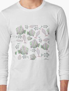 Fish Pattern Long Sleeve T-Shirt
