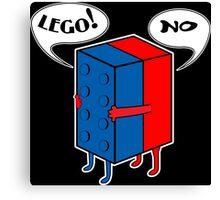 LEGO! NO! Funny Geek Nerd Canvas Print