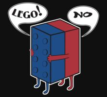 LEGO! NO! Funny Geek Nerd by fikzuleh