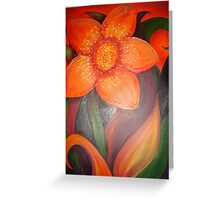 hot flower Greeting Card