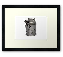 metal dalek Framed Print