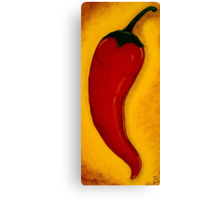 Fuego Sylvestre Wild Fire Red Chilli Pepper Painting Canvas Print