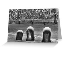 3 Headstones Greeting Card