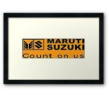 Maruti Suzuki Funny Geek Nerd Framed Print