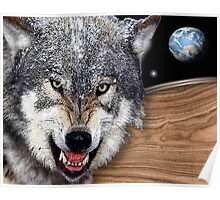 red wolfs earth Poster