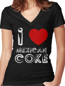 Mexican Coke Funny Geek Nerd Women's Fitted V-Neck T-Shirt