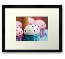 Cup Cake Tea Party Framed Print