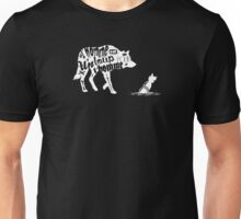 Man is a wolf to man Unisex T-Shirt