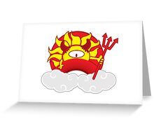 Devils Sun Darkness in Red Rainbow Greeting Card