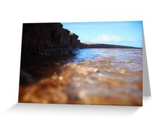 Sand Cliff Greeting Card