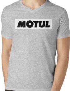 Motul Funny Geek Nerd Mens V-Neck T-Shirt