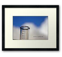 Gauging Rain © Vicki Ferrari Framed Print