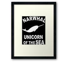 Narwhals Funny Geek Nerd Framed Print