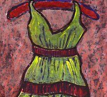 Dress on a hanger by sword