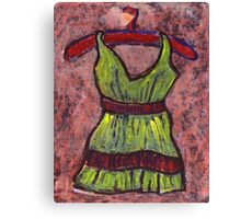 Dress on a hanger Canvas Print