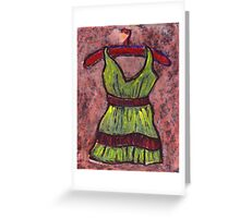 Dress on a hanger Greeting Card