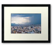 Stormy day in Athens Framed Print