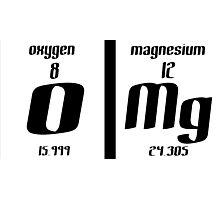 OMG Elements Funny Geek Nerd Photographic Print